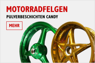 Motorradfelgen in Candy / Candygold / Gold