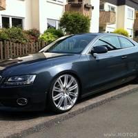 Audi A5 mit Audi A7/ A8 9x20 ET 37 Schmiederädern