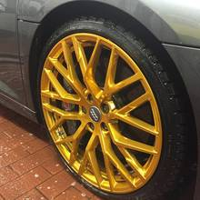 Audi R8 4S mit original 20 Zoll Felgen in Candy Gold