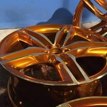 PKW Alufelgen pulverbeschichten in Candy, Glanzgedreht, Bicolor - TeamAPT