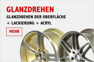 Felgen Glanzdrehen + Lackierung + Acryl