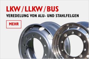 LKW / LLKW / Bus - Veredelung von Alu- und Stahlfelgen
