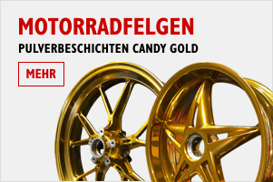 Motorradfelgen in Candy Gold