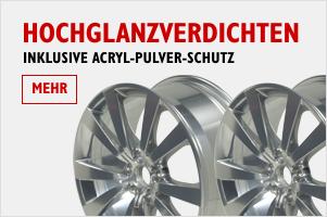 Felgen Hochglanzverdichten inkl. Acryl-Pulver-Schutz